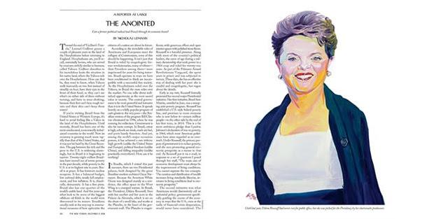 Ilustração sobre foto de Dilma Rousseff na revista The New Yorker (Foto: Reprodução)