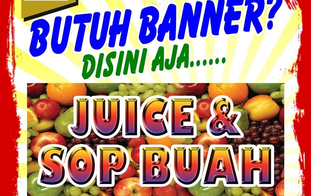 Desain Banner Es Buah - desain spanduk kreatif