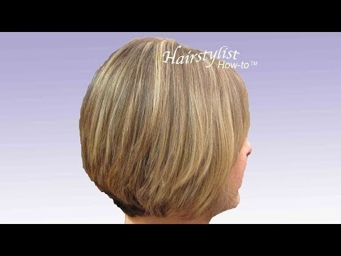 Hairstylist How-to: Layered Graduated Bob: Video Hair Tutorial