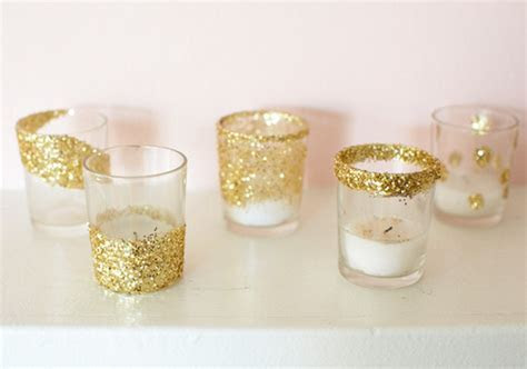 Festive Glitter Votives   DIY Projects   100 Layer Cake