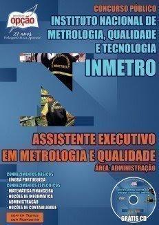 Apostila Concurso INMETRO -  Assistente Executivo em Metrologia e Qualidade.