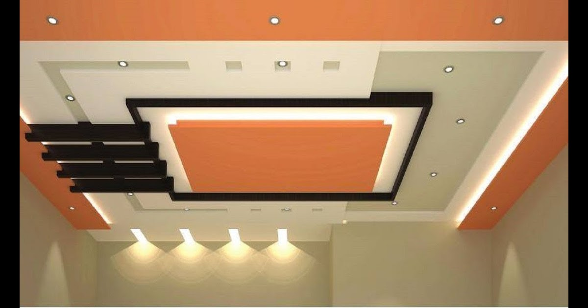 18 Luxury Fall Ceiling Design For Hall With Two Fans