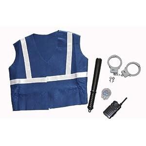 walkie talkie kinder idena 8230078 kinderweste polizist set mit handschelle kn ppel walkie. Black Bedroom Furniture Sets. Home Design Ideas