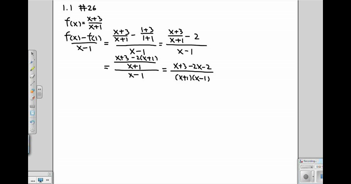 Nidecmege: Difference Quotient Worksheet With Answers on