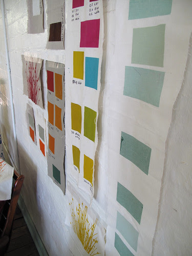 wall of swatches