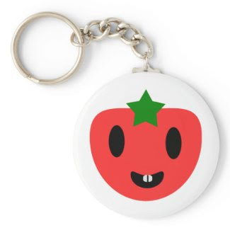 Toothy Tomato Key Chain