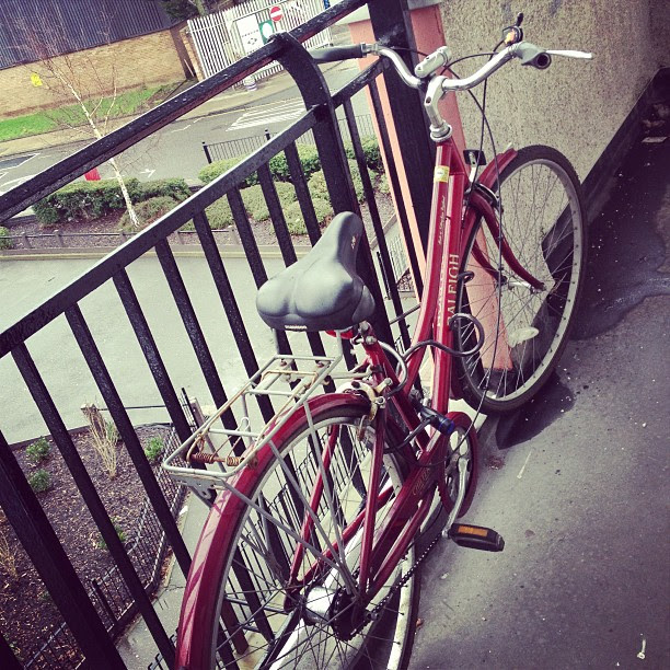 The Crimson Beast Red Vintage Raleigh Chiltern Bicycle Women's Bike