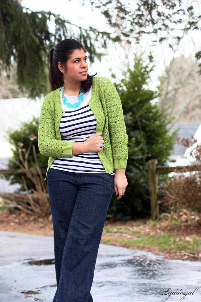 Breton stripes and lime green