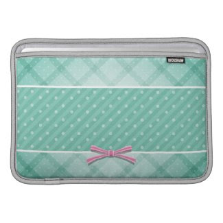 Polka Dot {green} Pattern Macbook Sleeve