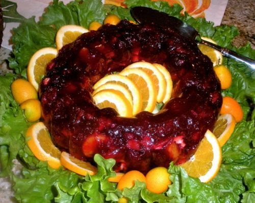 thanksgiving fruit dinner salad for Mold Jello At  Dinner Sheila's Cranberry