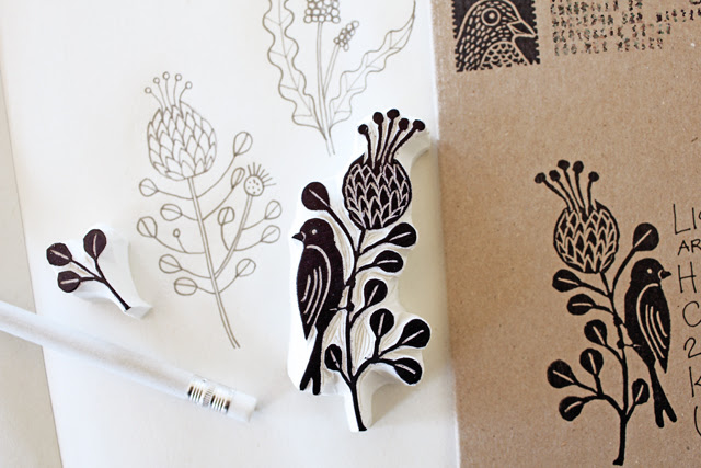 Protea flower stamp