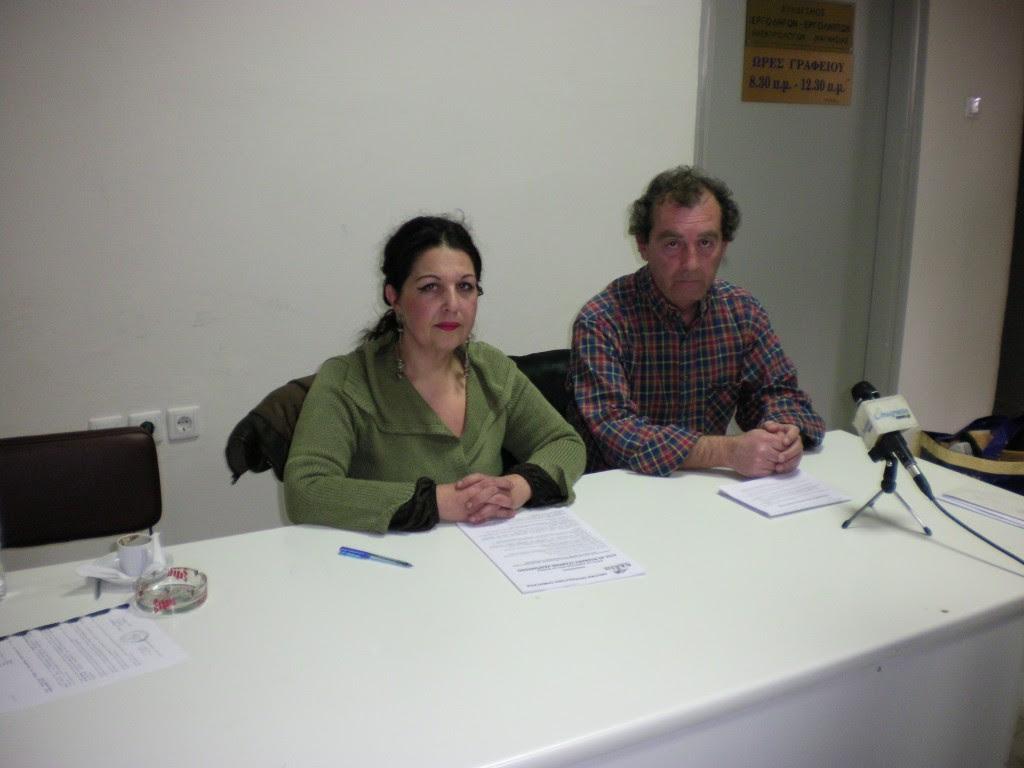 Από την ΠΑΣΕΒΕ Μαγνησίας η κ. Όλγα Σταροπούλου και ο οικονομικός σύμβουλος της ΠΑΣΕΒΕ κ. Γιώργος Μακρυγιάννης