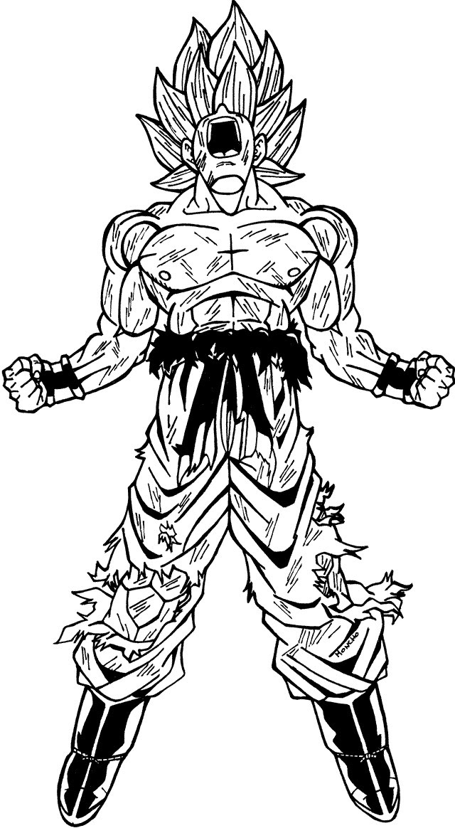 Random Citation Yonosuke Goku Super Saiyan Coloring Pages