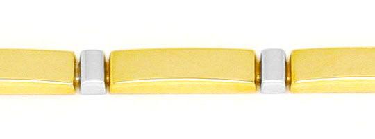 Originalfoto DESIGNER PLATTEN-GOLD-ARMBAND GELB-GOLD WEISS-GOLD