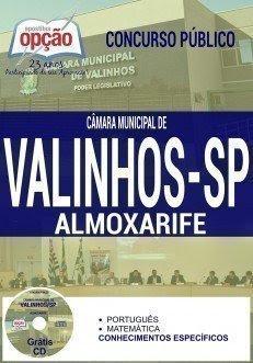 apostila Câmara de Valinhos ALMOXARIFE 2016.