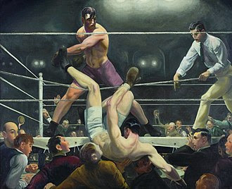 Bellows George Dempsey and Firpo 1924