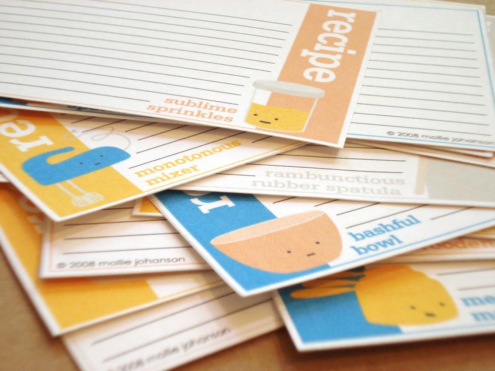 A Baker's Best (Tool) Friends Recipe Cards