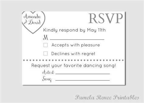 Personalized Wedding RSVP Card with Song by
