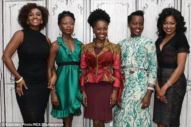 Co-stars: Nyong'o was joined by her fellow cast members - Saycon Sengbloh, Akosua Busia, Zainab Jah and Pascale Armandas - for the event where they talked about their play Eclipsed