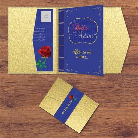 Disney Beauty and the Beast Wedding Invitation Disney