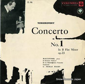 MALCUZYNSKI tchaikovsky; concerto no.1 in b flat minor op.23