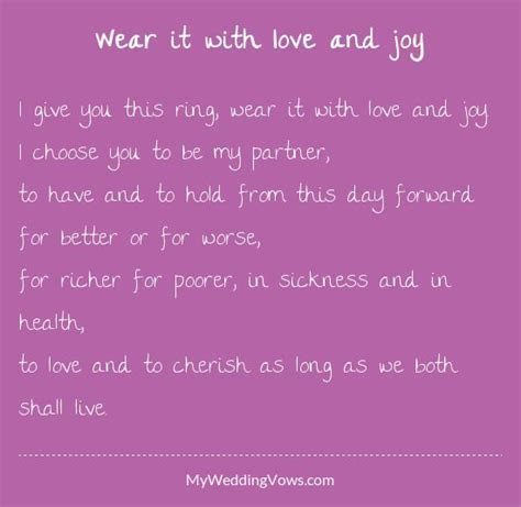 Wear it with love and joy   Ring