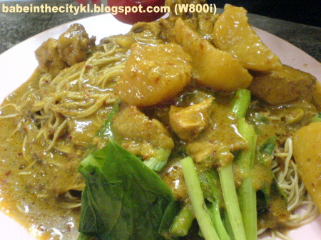 tkc dry curry chic noodle