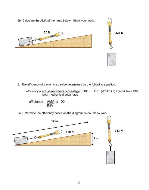 Simple Machines Ima Ama And Efficiency Worksheet Answers ...