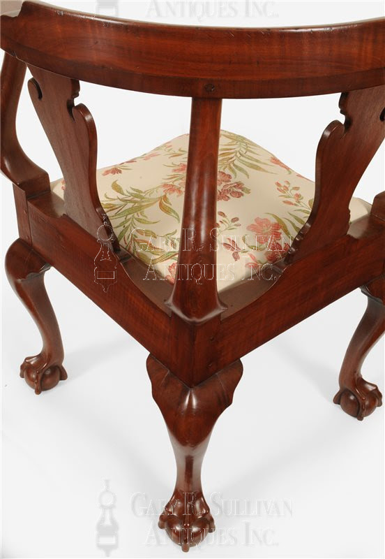 Chippendale walnut corner chair, (New York, NY ...