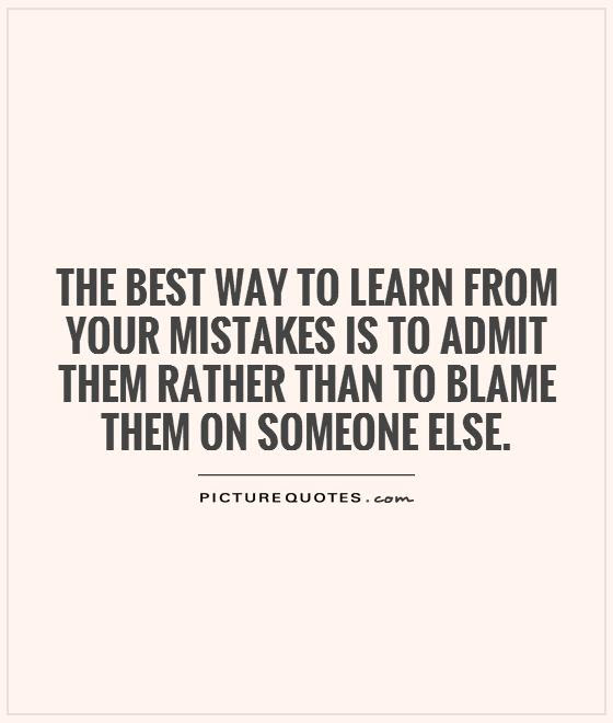 Quotes About Mistakes Learn Life 50 Quotes