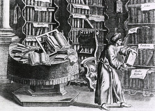 Early medical library by FP Florinus IN Oeconomus prudens et legalis, 1722 (NLM)