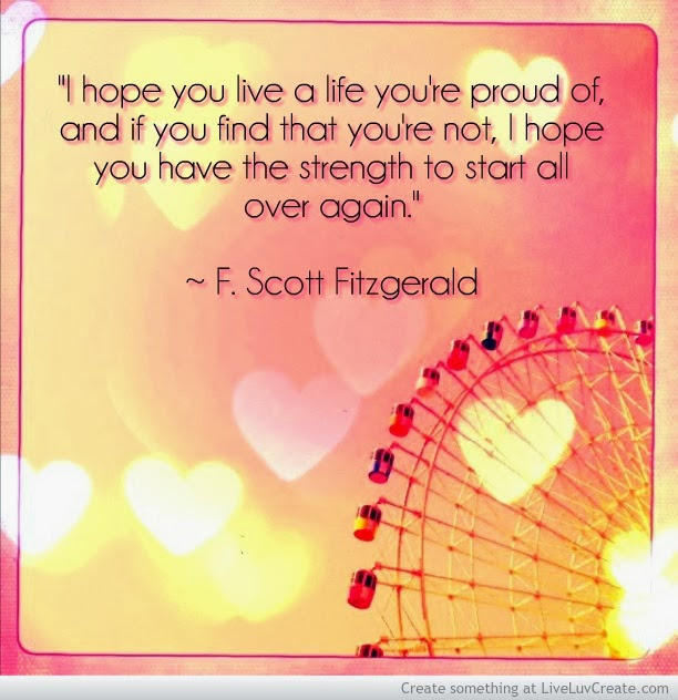 Awesome Clarity Quote By F Scott Fitzgerald I Hope You Live A