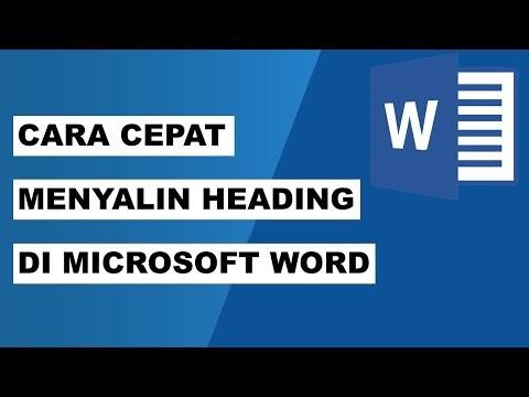 Cara Cepat Menyalin Heading atau Judul di Microsoft Word