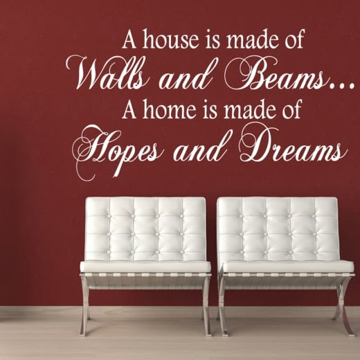 Hopes And Dreams Wall Sticker Quote Wall Chimp Uk