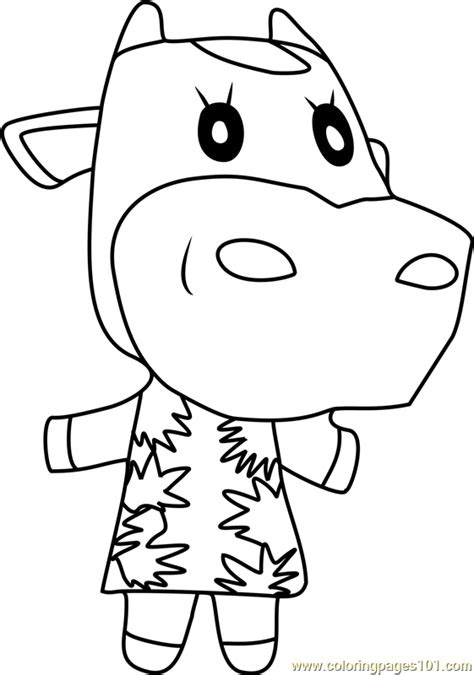 norma animal crossing coloring page  animal crossing