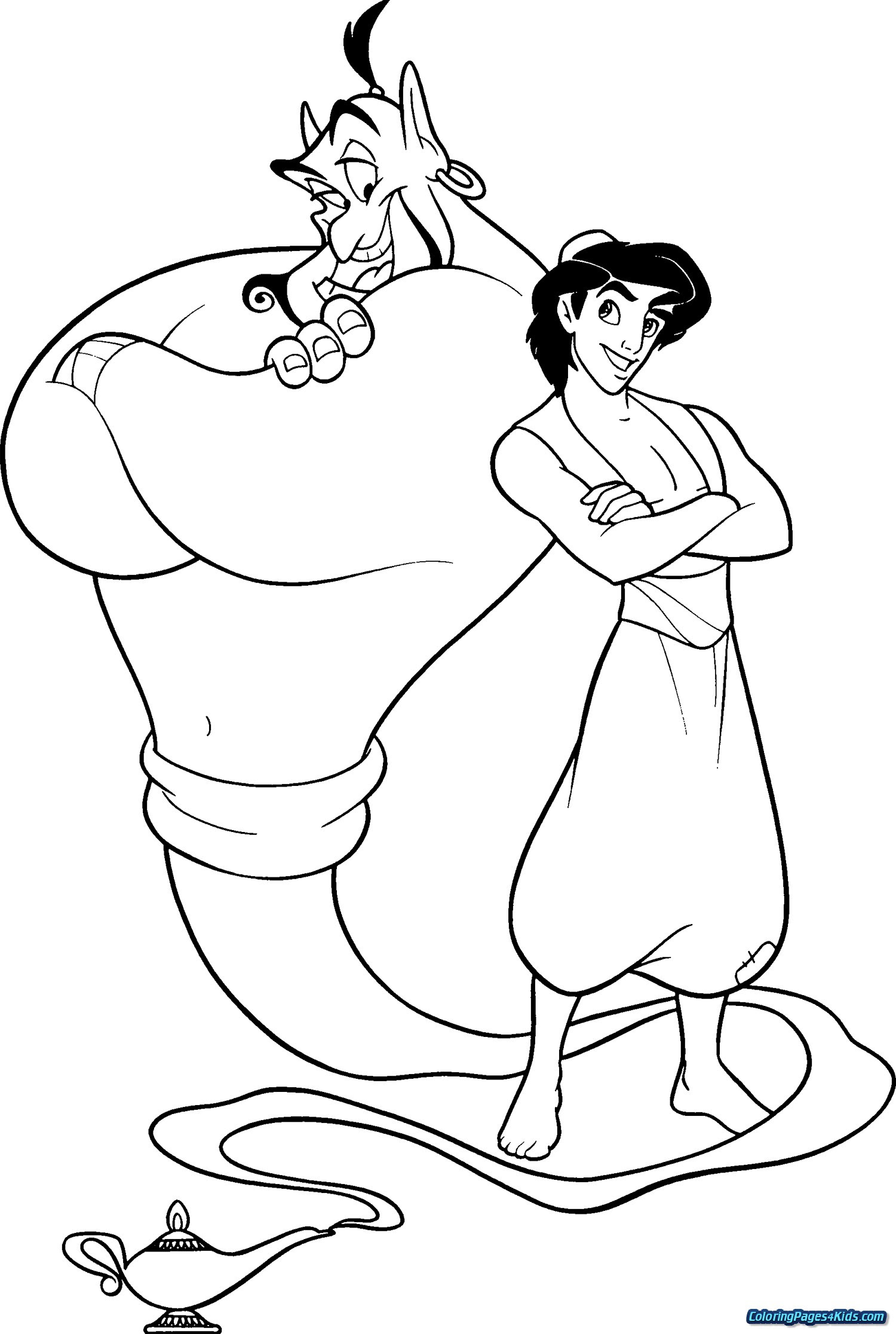 Coloring Pages Aladdin Coloring In