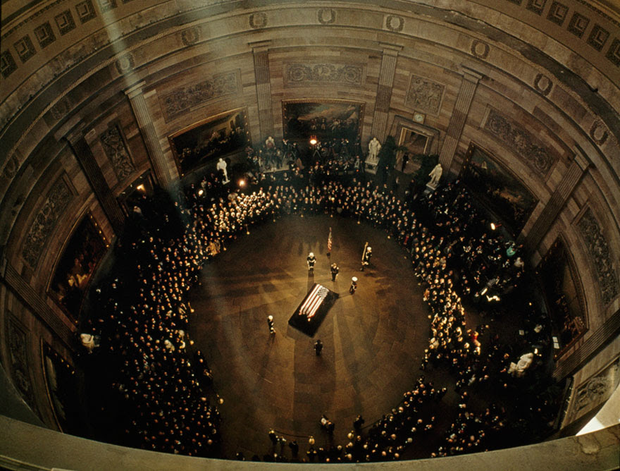 John F. Kennedy's Coffin Lies In State Beneath The Capitol's Dome, November 1963