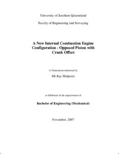 A new internal combustion engine configuration - opposed