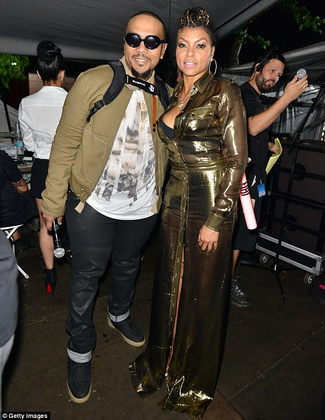 Hit show: Timbaland and Empire star Taraji P. Henson were spotted together backstage