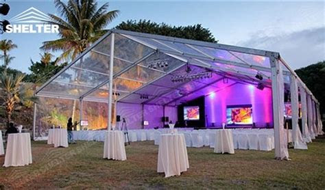 SHELTER clear top tent luxury wedding marquee party tents