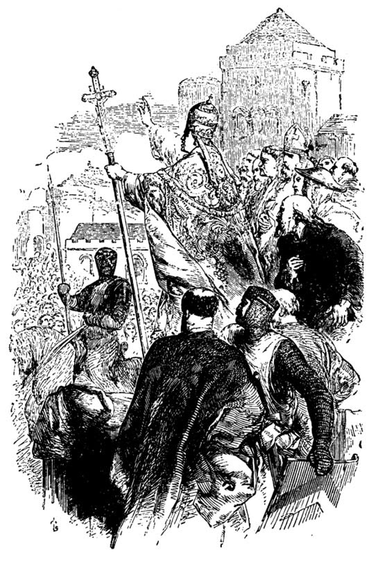 Pope Urbanus ll preaching the First Crusade.