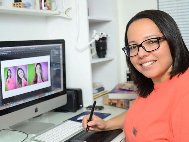 Renata Barbosa em ação (Foto: Arquivo pessoal)