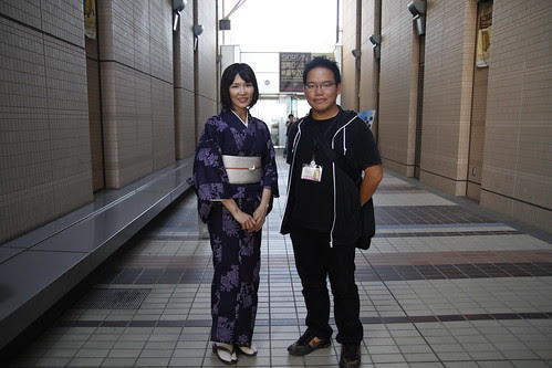 With KINGYO actress Qyoko Kudo. Skip City International D-cinema Film Fest (27/7/2010)