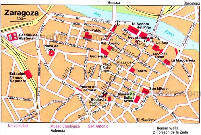 Saragossa Spain Map | States Maps on