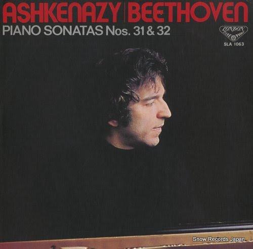 ASHKENAZY, VLADIMIR beethoven; piano sonata no31 & 32