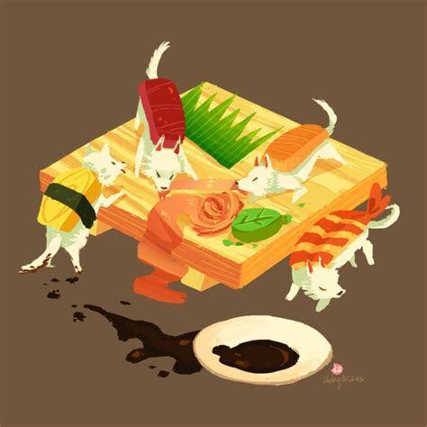 sushi dogs by hyamei on DeviantArt