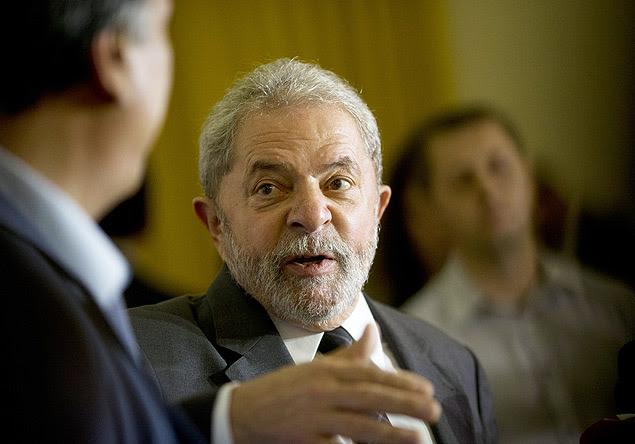 O ex-presidente Lula durante encontro no Rio com o governador Luiz Fernando Pezão (PMDB)