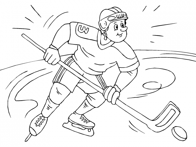 Jugador De Hockey Sobre Hielo Para Imprimir Paracolorearnet
