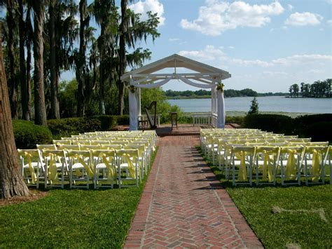 Lakefront wedding gazebo at Cypress Grove Estate House for