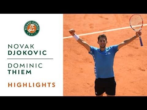 Thiem vượt qua Djokovic trong trận bán kết Roland Garros 2019